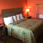 accessible king bed room at Beachcomber Inn
