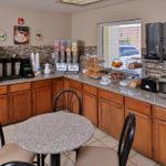 breakfast buffet area at Beachcomber Inn