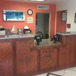 front desk at Beachcomber Inn