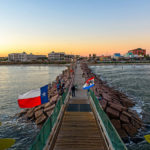 pier 61 boardwalk in Galveston